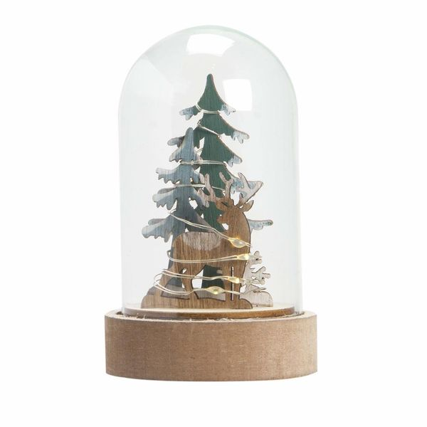 Navidad-C19-Snowglobe-Pradera-7.5-13Cm-Madera-Nat