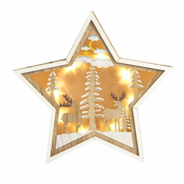 Navidad-C19-Estrella-C-Luz-24.5-24.5Cm-Madera-Nat