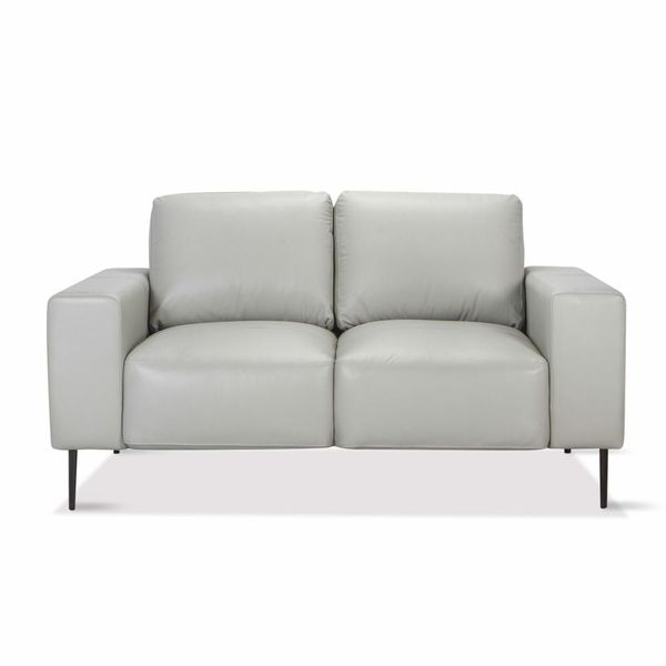 Sofa-2-Puestos-Gus-Cuero---Pvc-Gris-Claro-Ice---------------