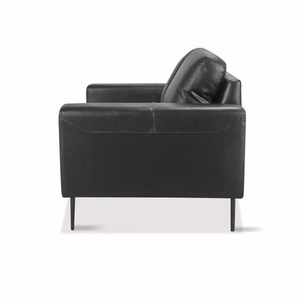 Sofa-2-Puestos-Gus-Cuero---Pvc-Negro-Dmo--------------------