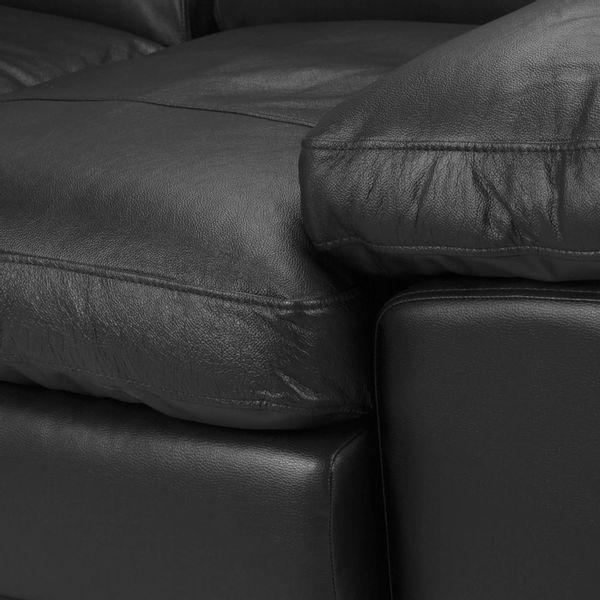 Sofa-2-Puestos-Monroe-Cuero---Pvc-Negro---------------------
