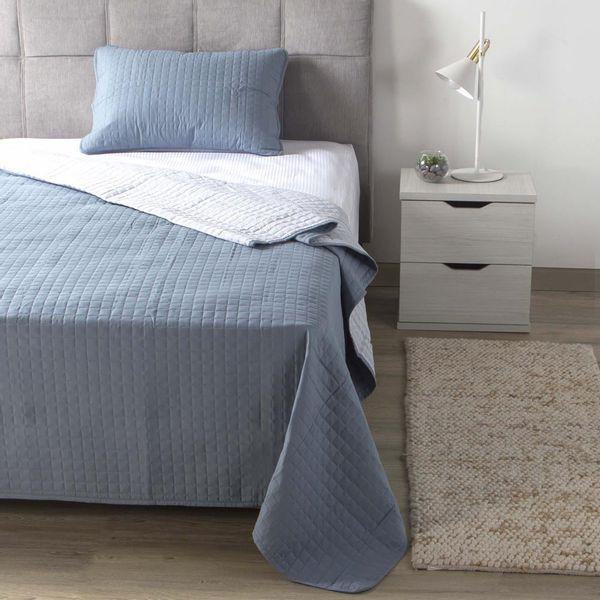 Cubrecama-Knit-Sencillo-205-256Cm-100--Microf-Azul----------