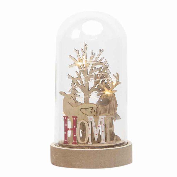 Navidad-C19-Snowglobe-Home-9-17Cm-Madera-Nat----------------