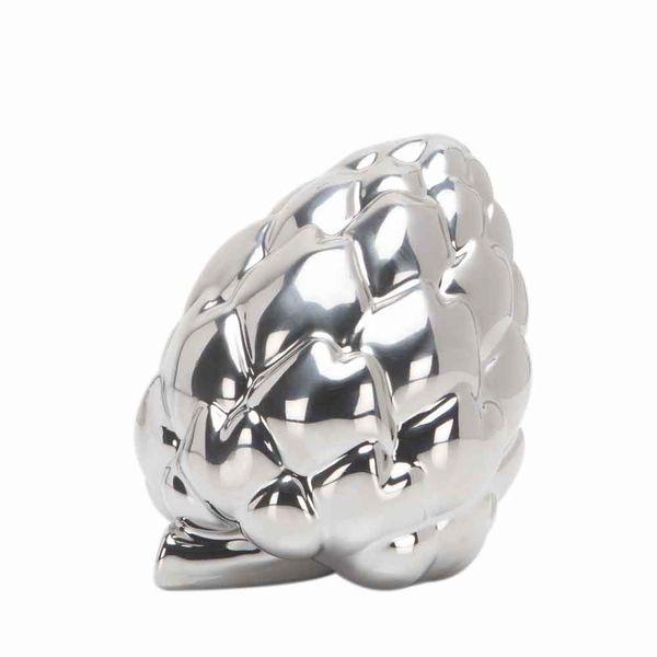 Figura-C19-Alcachofa-13-12-14Cm-Ceramica-Plata--------------