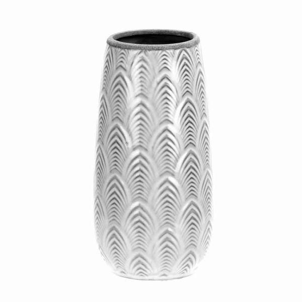 Florero-C19-Royal-12-12-23.5Cm-Porcelana-Blanco-Gris--------