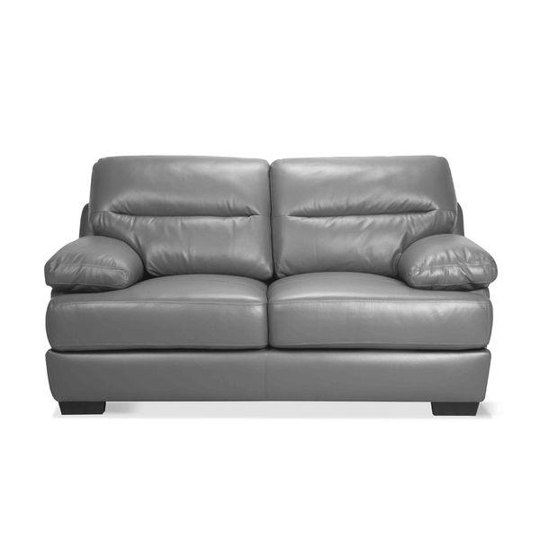 Sofa-2-Puestos-Monaco-Cuero---Pvc-Gris-Oscuro-Dmo-----------