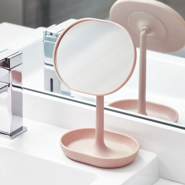 Espejo-Baño-Cade-11.3-6.5-19.8Cm-Plastico-Rosa--------------
