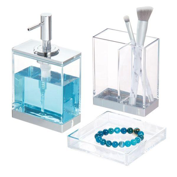 Set-3-Accesorios-Baño-Clarity-Plastico-Transparente---------
