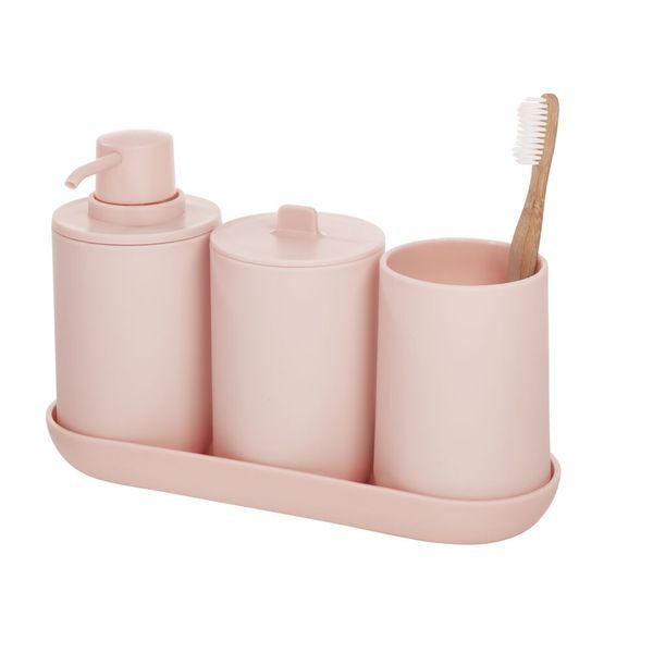 Set-4-Accesorios-Baño-Cade-Plastico-Rosa--------------------