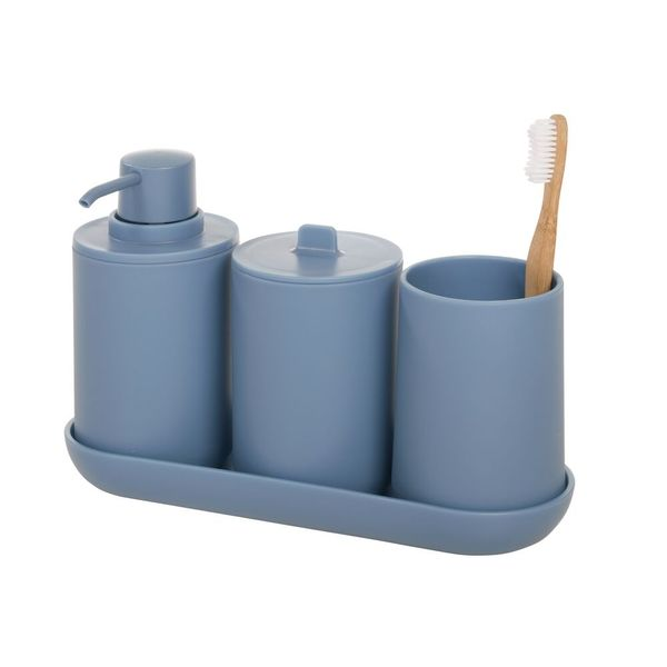 Set-4-Accesorios-Baño-Cade-Plastico-Azul--------------------