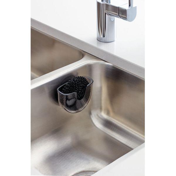 Porta-Esponja-Vella-10-5-5Cm-Plastico-Negro-----------------
