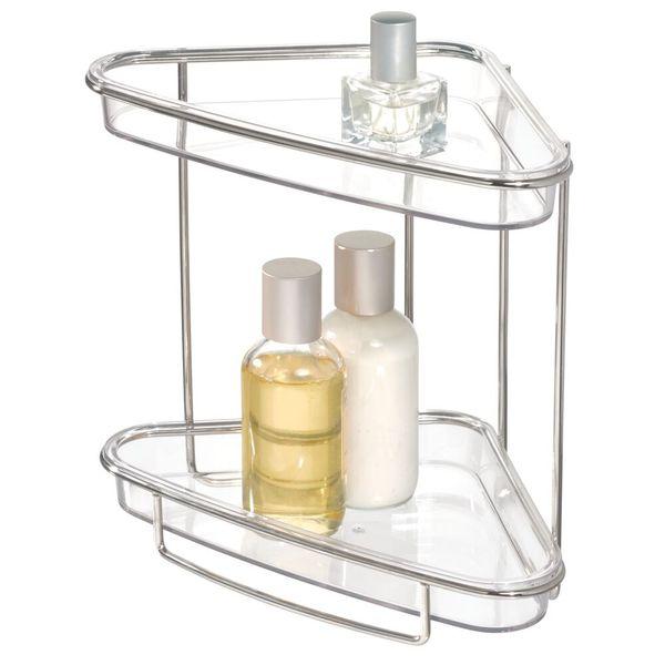 Organizador-Ducha-Esq-Clarity-2-Niv-16-9.7-23Cm-Plast-Acero-