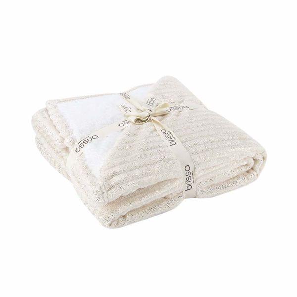 Manta-Flannel-Escarchada-110-140Cm-Poliester-Beige----------