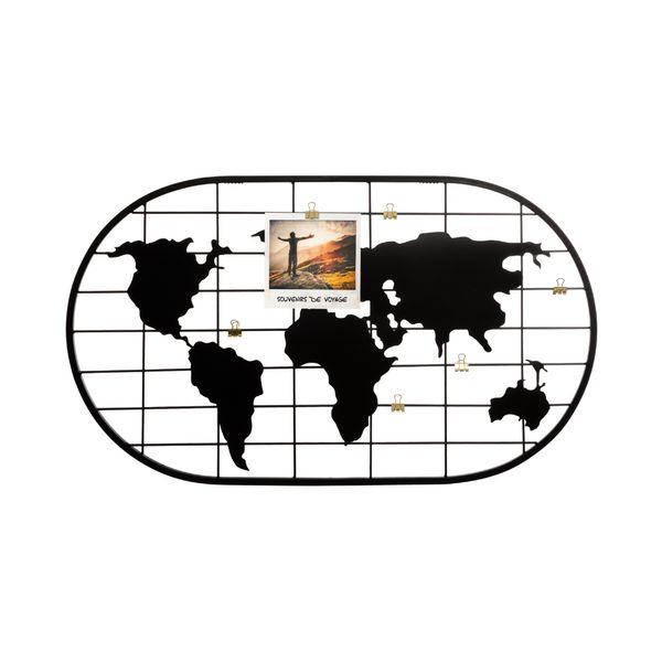 Organizador-Fotos-Mapamundi-60x35Cm-Negro
