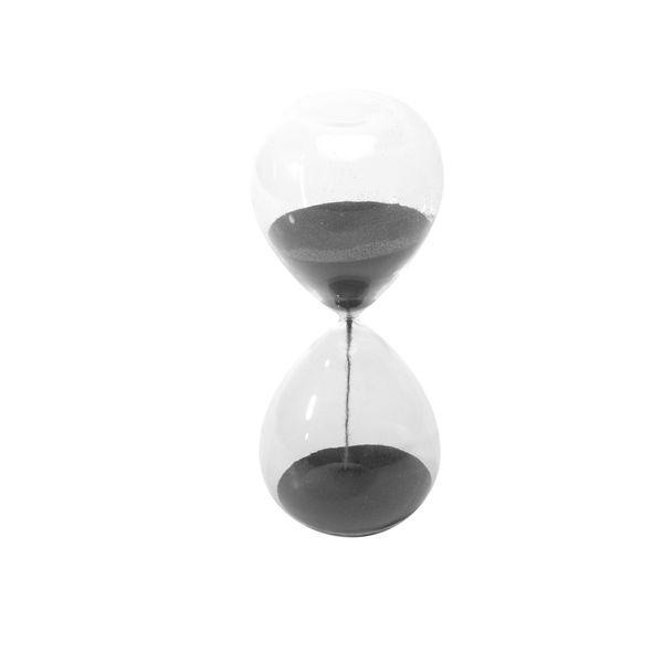 Figura-C19-Reloj-Arena-8-8-20Cm-Vidrio-Negro----------------