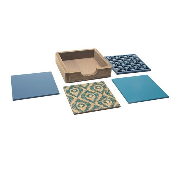 Set-4-Portavasos-Ocean-12-12-1Cm-Mdf-Natural-Azul-----------