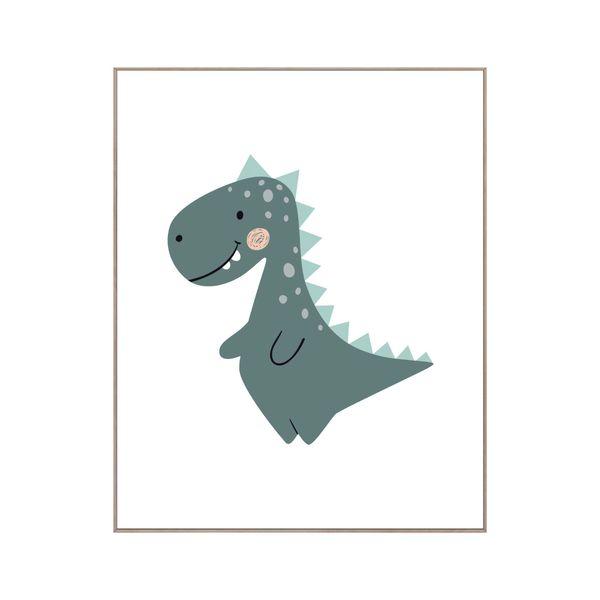 Cuadro-Dino-Kids-40-50Cm-Papel-Marco------------------------