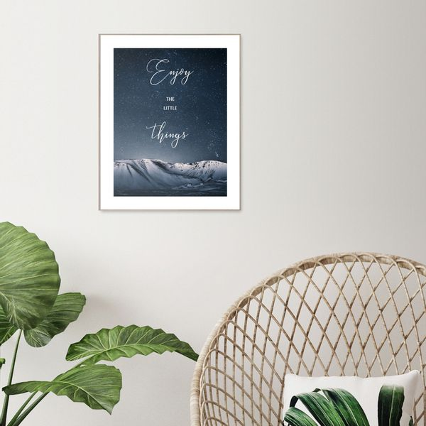 Cuadro-Enjoy-The-Little-Things-40-50Cm-Papel-Marco----------