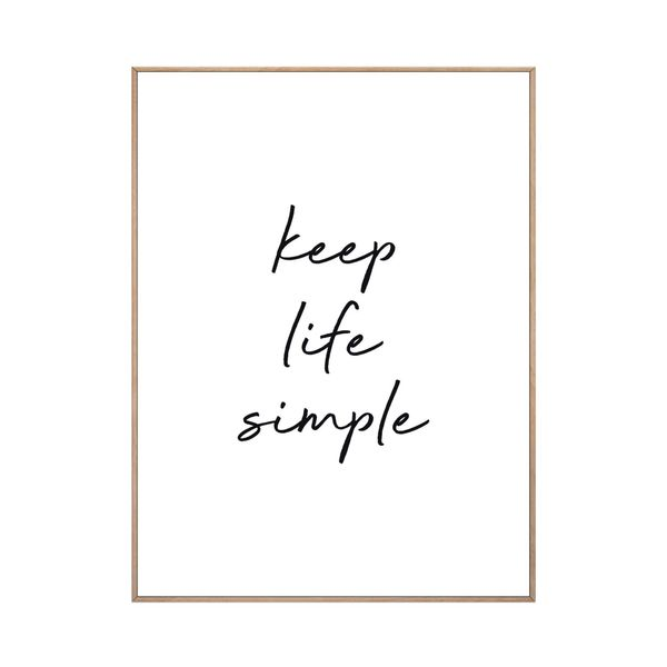 Cuadro-Keep-Life-Simple-30-40Cm-Papel-Marco-----------------