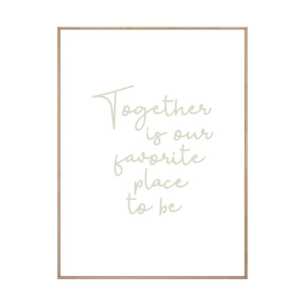 Cuadro-Together-30-40Cm-Papel-Marco-------------------------