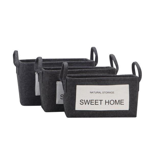Set-3-Canastas-Sweet-Home-38-30-22Cm-Poliester-Gris-Oscuro--