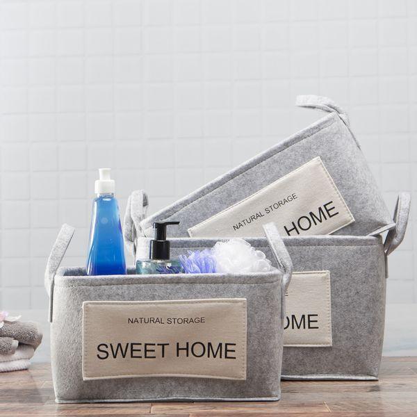Set-3-Canastas-Sweet-Home-38-30-22Cm-Poliester-Gris-Hielo---