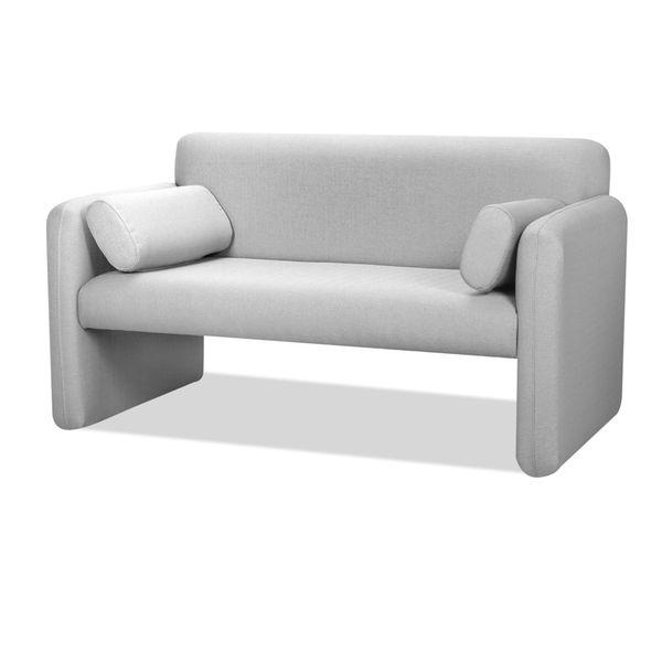 Sofa-2-Puestos-Office-Tela-Venezia-Gris-Claro---------------
