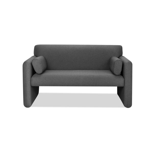 Sofa-2-Puestos-Office-Tela-Venezia-Gris-Oscuro--------------