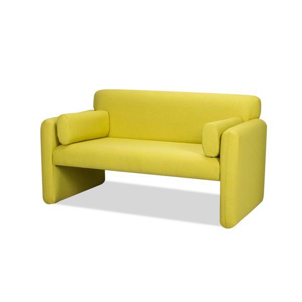 Sofa-2-Puestos-Office-Tela-Venezia-Gris-Verde---------------