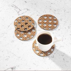 Set-4-Portavasos-Ratan-10-10-18Cm-Madera-Cafe--------------