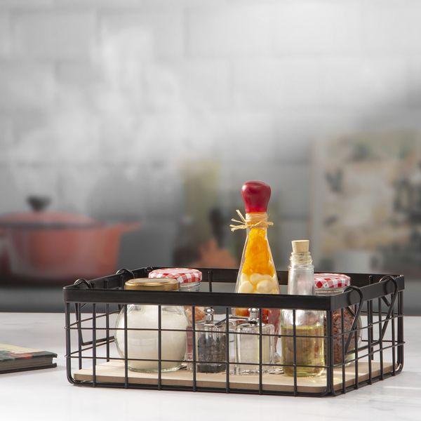 Organizador-Cocina-Cooking-30-20-10Cm-Metal-Negro-----------
