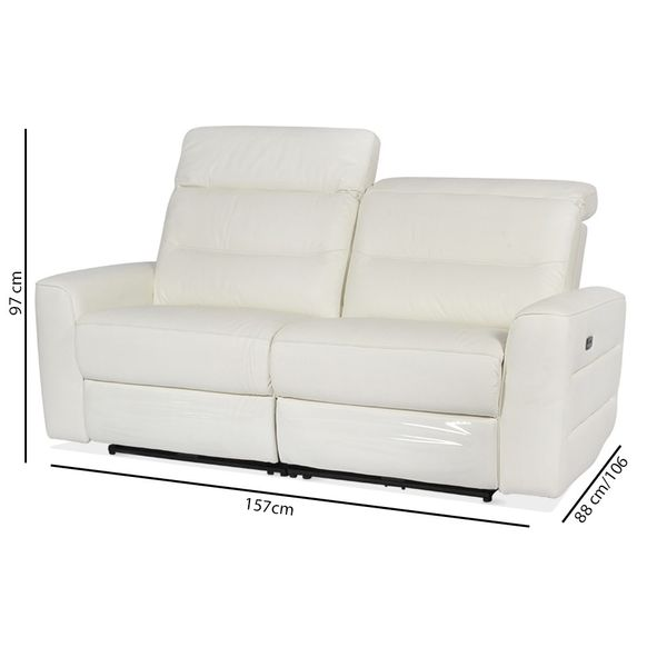 Sofa-2P-Reclinable-Electrico--Sweden-Blanco