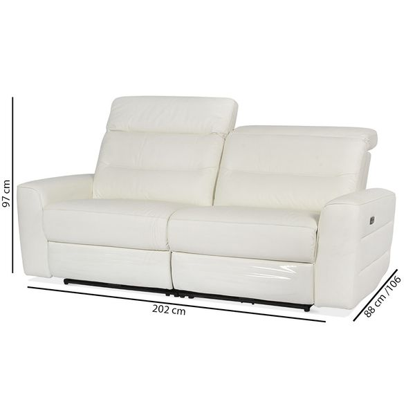 Sofa-3P-Reclinable-Electrico--Sweden-Blanco