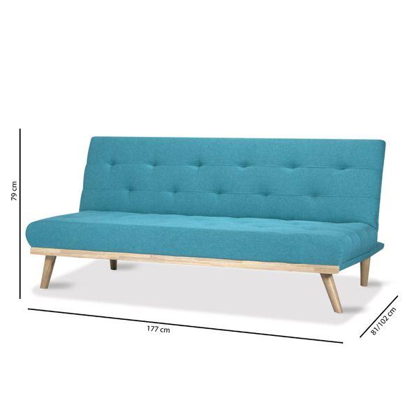 Sofa-Cama-Spike-Turquesa