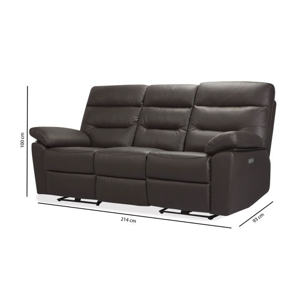 Sofa-3P-Reclinable-Kingstone-Cafe