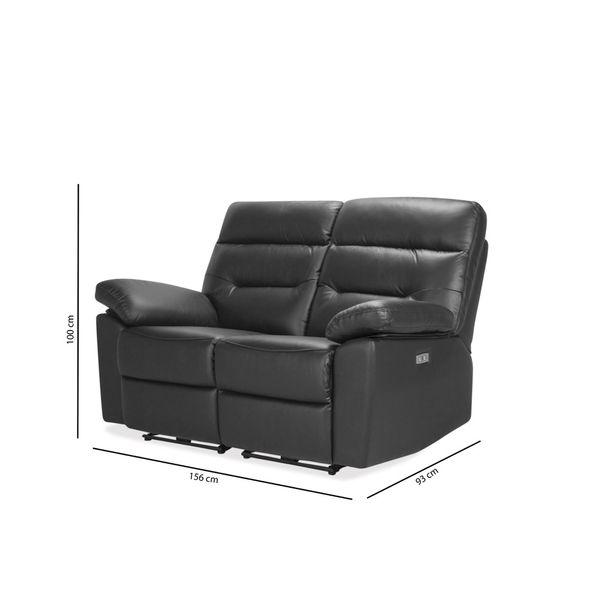 Sofa-2P-Reclinable-Kingstone-Negro