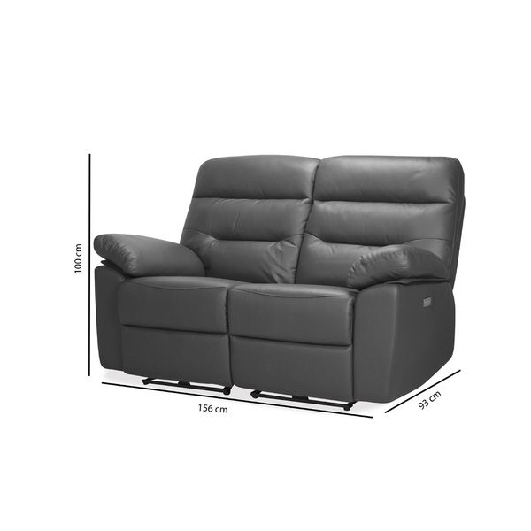 Sofa-2P-Reclinable-Kingstone-Gris