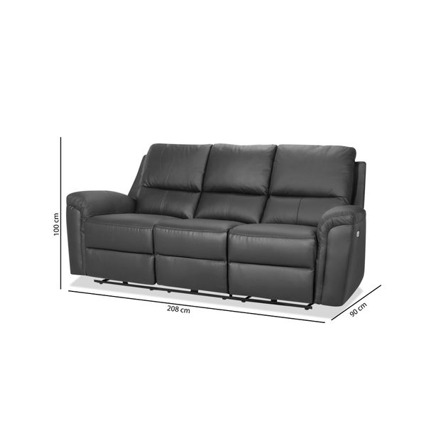 Sofa-3P-Reclinable-Cleveland-Negro