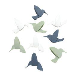 Set-9-Aplique-Pared-Hummingbird-12.7-2.5-10Cm-Plastico-Surt-