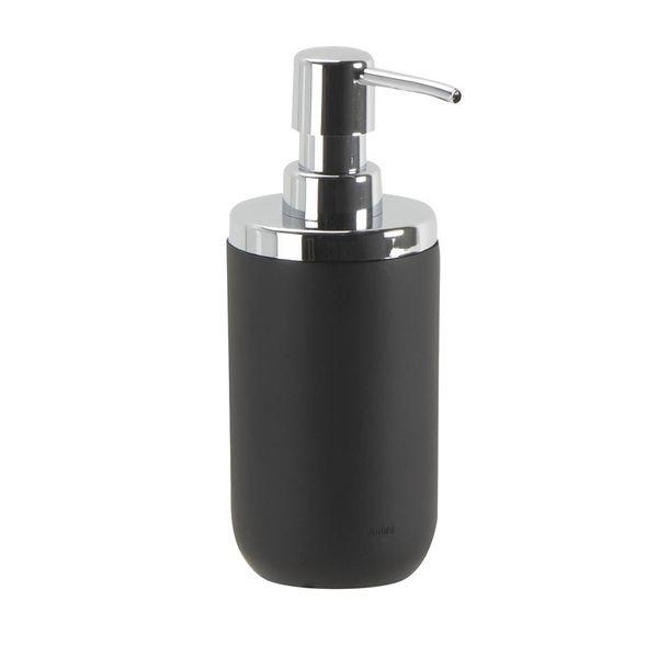 Dispensador-Jabon-Junip-7.6-10-17.7Cm-Resina-Cromo-Negro----