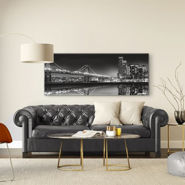 Cuadro-Bridge-60-150Cm-Canvas-Silver------------------------