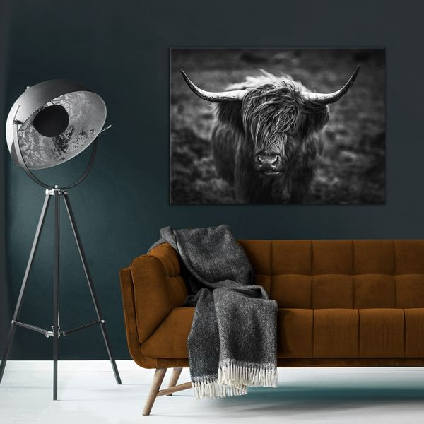 Cuadro-Horns-75-100Cm-Canvas-Silver-------------------------