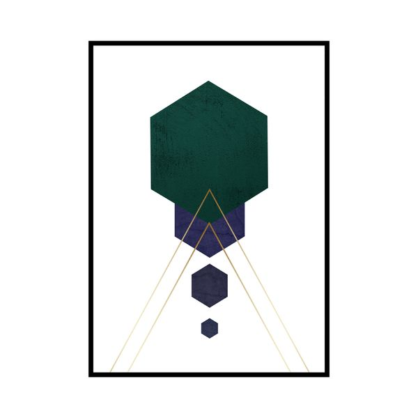 Cuadro-Hexagon-1-30-40Cm-Papel-Mdf--------------------------