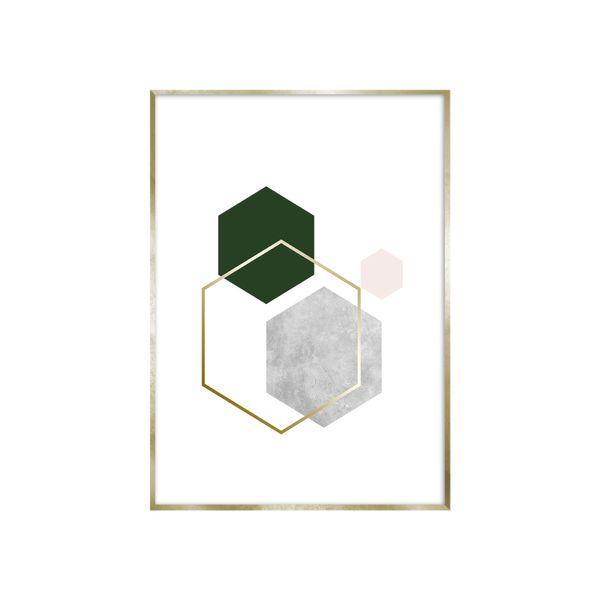 Cuadro-Hexagon-2-30-40Cm-Papel-Mdf--------------------------