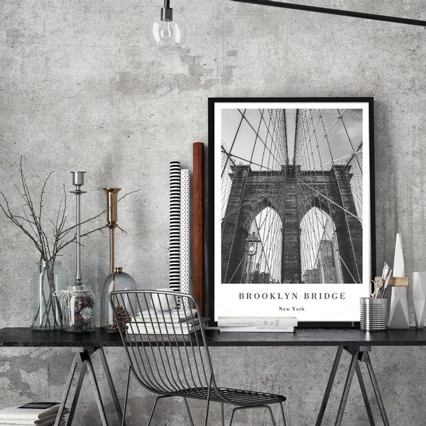 Cuadro-Brooklyn-50-70Cm-Papel-Mdf---------------------------