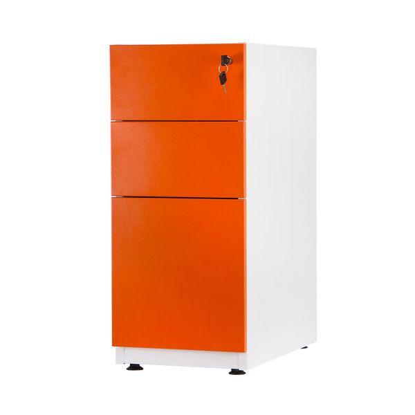 Archivador-Pedestal-2-Gavetas---1-Archivo-Naranja