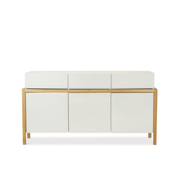 Buffet-Emilia-167-53-91Cm-Highgloss-Blanco--Roble-Natural---