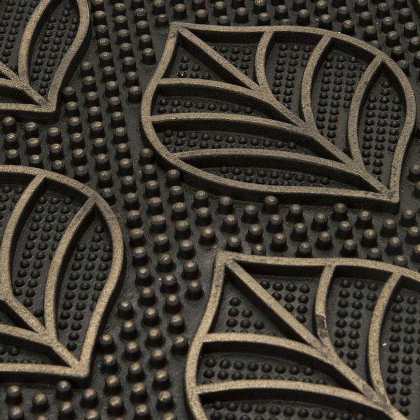 Tapete-Entrada-Leaves-45-75Cm-Plastico-Negro-Dorado---------