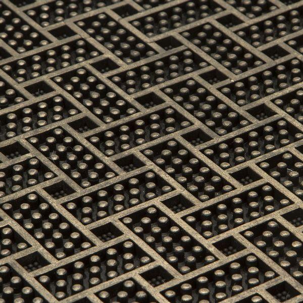 Tapete-Entrada-Laberinto-45-75Cm-Plastico-Negro-Dorado------