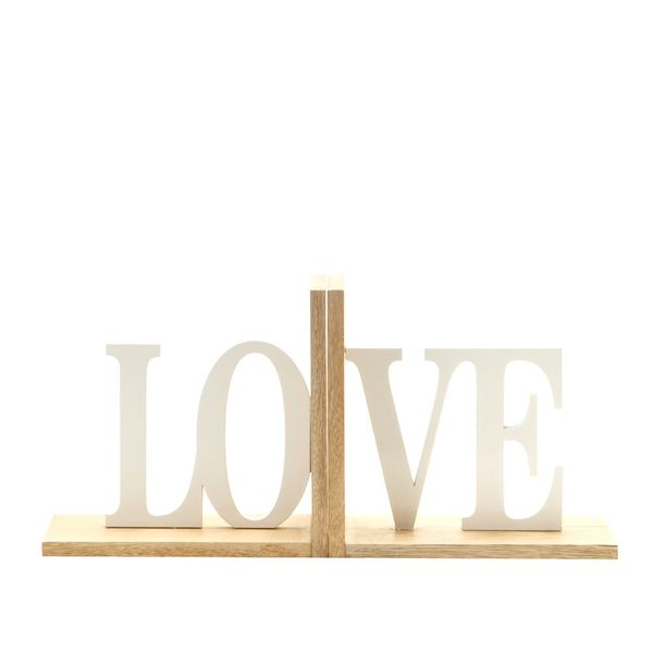 Apoya-Libros-Love-32-10-15Cm-Madera-Natural-Blanco----------